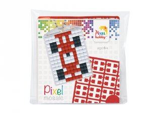 Pixelhobby Kulcstartó készlet, versenyautó (23024, 1db kulcstartó alaplap + 3 szín, 7-99 év)