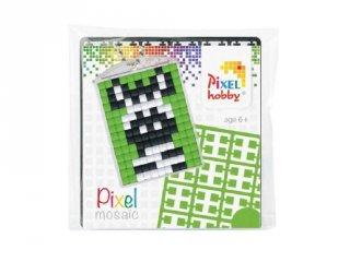 Pixelhobby Kulcstartó készlet, zebra (23013, 1db kulcstartó alaplap + 3 szín, 7-99 év)