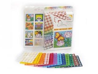 Pixelhobby Mini mosaic készlet (24001, 1db 6x6 alaplap + 12 szín, 7-99 év)