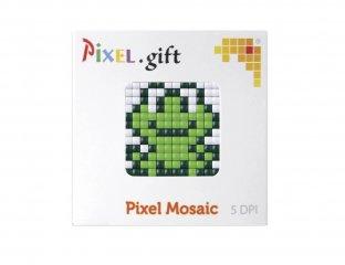 Pixelhobby, Mini Pixel XL készlet, béka (30206, 1db 6x6 cm-es alaplap, 3 szín, 4-6 év)