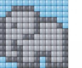 Pixelhobby, Mini Pixel XL készlet, elefánt (30207, 1db 6x6 cm-es alaplap, 3 szín, 4-6 év)