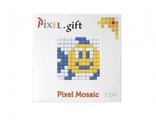 Pixelhobby, Mini Pixel XL készlet, hal (30211, 1db 6x6 cm-es alaplap, 3 szín, 4-6 év)