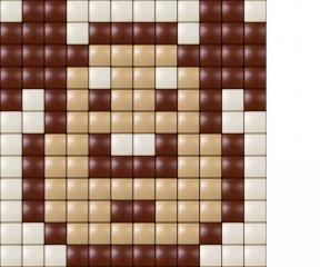 Pixelhobby, Mini Pixel XL készlet, kutya (30203, 1db 6x6 cm-es alaplap, 3 szín, 4-6 év)
