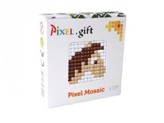 Pixelhobby, Mini Pixel XL készlet, ló (30210, 1db 6x6 cm-es alaplap, 3 szín, 4-6 év)