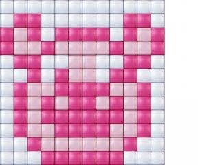 Pixelhobby, Mini Pixel XL készlet, muffin (30214, 1db 6x6 cm-es alaplap, 3 szín, 4-6 év)