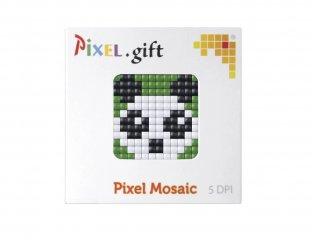 Pixelhobby, Mini Pixel XL készlet, panda (30200, 1db 6x6 cm-es alaplap, 3 szín, 4-6 év)