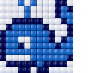 Pixelhobby, Mini Pixel XL készlet, papagáj (30208, 1db 6x6 cm-es alaplap, 3 szín, 4-6 év)