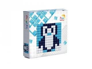 Pixelhobby, Mini Pixel XL készlet, pingvin (30213, 1db 6x6 cm-es alaplap, 3 szín, 4-6 év)