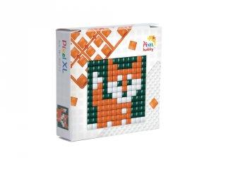 Pixelhobby, Mini Pixel XL készlet, róka (30212, 1db 6x6 cm-es alaplap, 3 szín, 4-6 év)