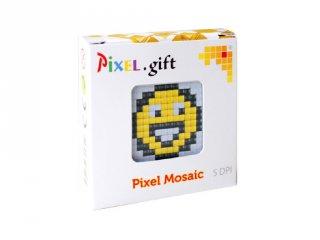 Pixelhobby, Mini Pixel XL készlet, smiley (30201, 1db 6x6 cm-es alaplap, 3 szín, 4-6 év)