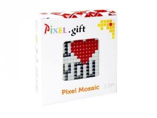 Pixelhobby, Mini Pixel XL készlet, szeretlek (30205, 1db 6x6 cm-es alaplap, 3 szín, 4-6 év)