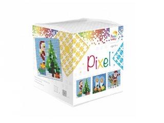 Pixelhobby, Pixel kocka, karácsony (29001, 3db 6x6 cm-es képhez, 7-99 év)