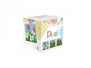 Pixelhobby, Pixel kocka, Tavaszi virágok (29005, 3db 6x6 cm-es képhez, 7-99 év)