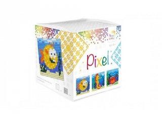 Pixelhobby, Pixel kocka, tengeri állatok (29002, 3db 6x6 cm-es képhez, 7-99 év)