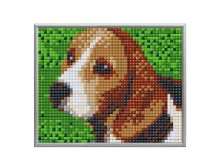 Pixelhobby, Pixel XL 4 alaplapos készlet, Beagle (28019, 4 db 10x12 cm-es alaplap, XL színek, 4-10 év)