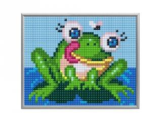 Pixelhobby, Pixel XL 4 alaplapos készlet, Béka (28013, 4 db 10x12 cm-es alaplap, XL színek, 4-10 év)
