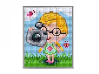 Pixelhobby, Pixel XL 4 alaplapos készlet, Fényképész (28005, 4 db 10x12 cm-es alaplap, XL színek, 4-10 év)