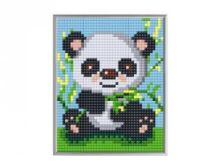 Pixelhobby, Pixel XL 4 alaplapos készlet, Panda (28012, 4 db 10x12 cm-es alaplap, XL színek, 4-10 év)