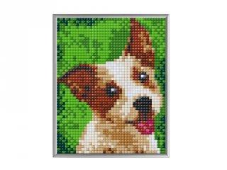 Pixelhobby, Pixel XL 4 alaplapos készlet, Terrier (28025, 4 db 10x12 cm-es alaplap, XL színek, 4-10 év)