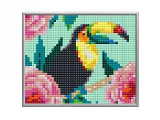 Pixelhobby, Pixel XL 4 alaplapos készlet, Tukán (28014, 4 db 10x12 cm-es alaplap, XL színek, 4-10 év)