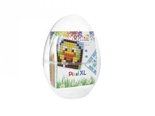 Pixelhobby, Pixel XL Húsvéti tojás, kacsa és csibe (28702, 2db 6x6 cm-es alaplap + 6 szín, 4-6 év)