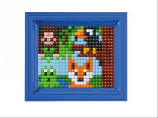 Pixelhobby, Pixel XL készlet, állatok (12064, 10x12 cm-es alaplap, XL színek, képkeret, 4-6 év)