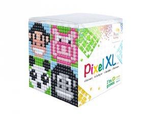 Pixelhobby, Pixel XL készlet, állatvariációk 1 (24111, 4db 6x6 cm-es képhez, 4-6 év)