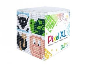 Pixelhobby, Pixel XL készlet, állatvariációk 2 (24112, 4db 6x6 cm-es képhez, 4-6 év)