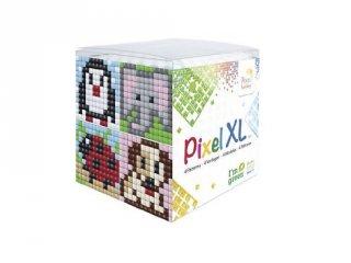 Pixelhobby, Pixel XL készlet, állatvariációk 3 (24113, 4db 6x6 cm-es képhez, 4-6 év)