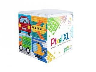 Pixelhobby, Pixel XL készlet, autós (24108, 4db 6x6 cm-es képhez, 4-6 év)
