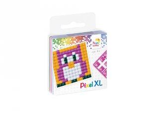 Pixelhobby, Pixel XL készlet, bagoly (27001, 1db 6x6 cm-es alaplap, 4 szín, 4-6 év)