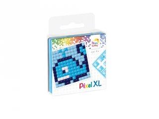 Pixelhobby, Pixel XL készlet, bálna (27009, 1db 6x6 cm-es alaplap, 4 szín, 4-6 év)
