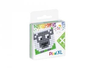 Pixelhobby, Pixel XL készlet, bárány (27002, 1db 6x6 cm-es alaplap, 4 szín, 4-6 év)