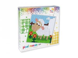 Pixelhobby, Pixel XL készlet, bárány (41009, 12x12 cm-es alaplap, XL színek, 4-6 év)