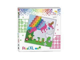Pixelhobby, Pixel XL készlet, Bébi unikornis (41017, 12x12 cm-es alaplap, XL színek, 4-6 év)