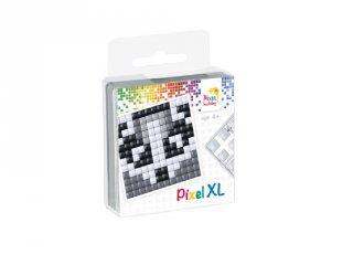 Pixelhobby, Pixel XL készlet, borz (27017, 1db 6x6 cm-es alaplap, 4 szín, 4-6 év)