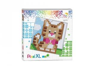Pixelhobby, Pixel XL készlet, Cica (41015, 12x12 cm-es alaplap, XL színek, 4-6 év)