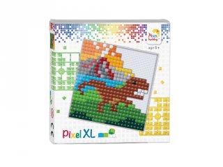 Pixelhobby, Pixel XL készlet, Dínó (41018, 12x12 cm-es alaplap, XL színek, 4-6 év)
