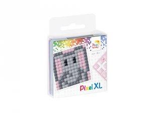 Pixelhobby, Pixel XL készlet, elefánt (27005, 1db 6x6 cm-es alaplap, 4 szín, 4-6 év)