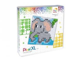 Pixelhobby, Pixel XL készlet, elefánt (41033, 12x12 cm-es alaplap, XL színek, 4-6 év)