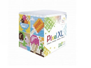 Pixelhobby, Pixel XL készlet, fagyi (24115, 4db 6x6 cm-es képhez, 4-6 év)