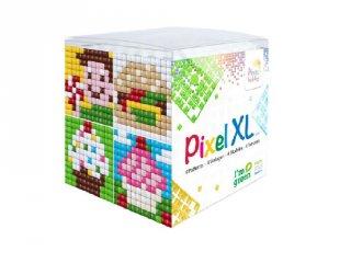 Pixelhobby, Pixel XL készlet, finom falatok (24104, 4db 6x6 cm-es képhez, 4-6 év)