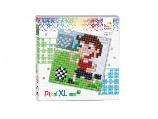 Pixelhobby, Pixel XL készlet, Foci (41034, 12x12 cm-es alaplap, XL színek, 4-6 év)
