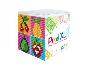 Pixelhobby, Pixel XL készlet, gyümölcs (24105, 4db 6x6 cm-es képhez, 4-6 év)