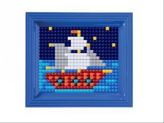 Pixelhobby, Pixel XL készlet, hajó (12068, 10x12 cm-es alaplap, XL színek, képkeret, 4-6 év)
