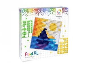 Pixelhobby, Pixel XL készlet, hajó (41022, 12x12 cm-es alaplap, XL színek, 4-6 év)