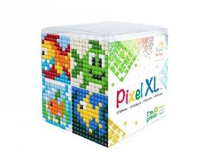 Pixelhobby, Pixel XL készlet, halacskák (24106, 4db 6x6 cm-es képhez, 4-6 év)