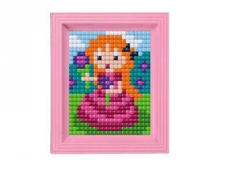 Pixelhobby, Pixel XL készlet, hercegnő (12066, 10x12 cm-es alaplap, XL színek, képkeret, 4-6 év)