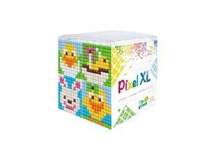 Pixelhobby, Pixel XL készlet, Húsvét (24120, 4db 6x6 cm-es képhez, 4-6 év)