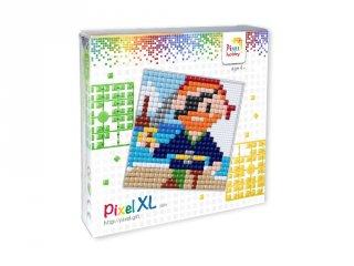 Pixelhobby, Pixel XL készlet, kalóz (41035, 12x12 cm-es alaplap, XL színek, 4-6 év)